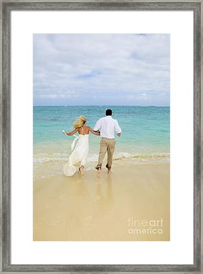 Beach Newlyweds Framed Print