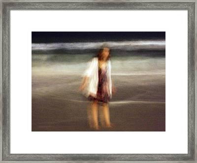 Beach Night 3 Framed Print