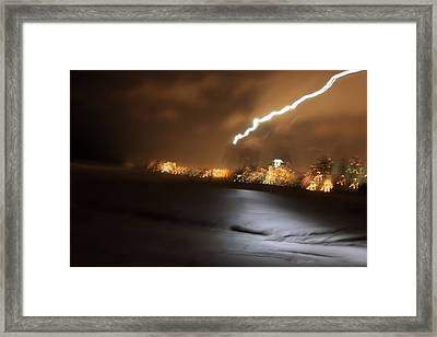 Beach Night 4 Framed Print