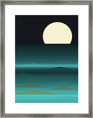 Beach Nights Framed Print