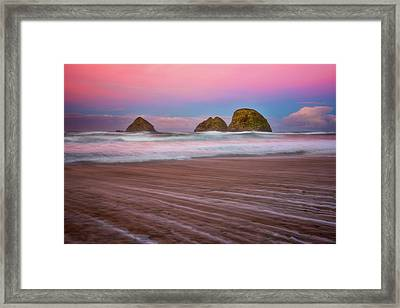Framed Print featuring the photograph Beach Of Dreams by Darren White