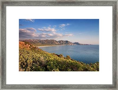 Framed Print featuring the photograph Beach Of San Nicolao by Laura Melis