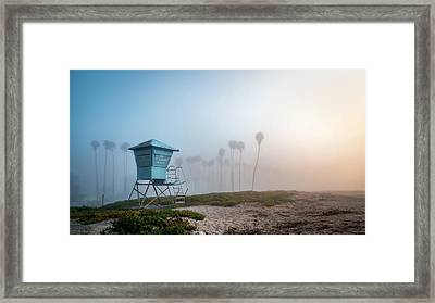 Framed Print featuring the photograph Beach Office by Sean Foster