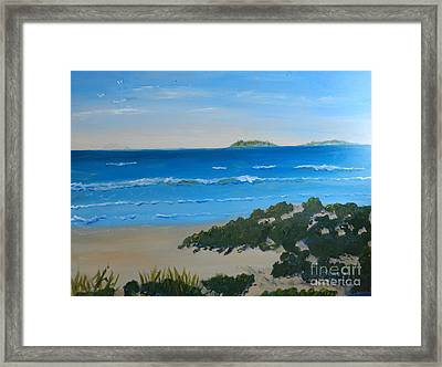 Beach On The North Coast Of Nsw  Framed Print