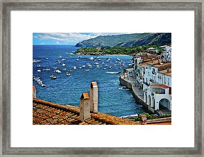 Framed Print featuring the photograph Beach Overlook by Harry Spitz