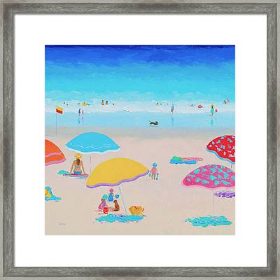 Beach Painting - Ah Summer Days Framed Print