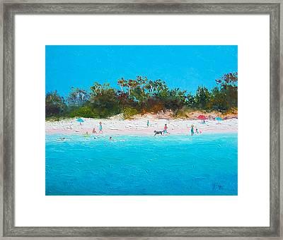 Beach Painting All Summer Long Framed Print