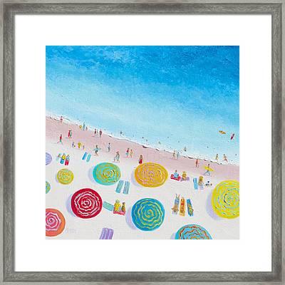 Beach Painting - Beach Bliss Framed Print