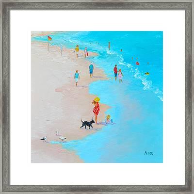 Beach Painting - Beach Day - By Jan Matson Framed Print by Jan Matson