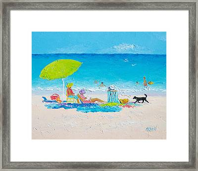 Beach Painting - Lazy Beach Day Framed Print