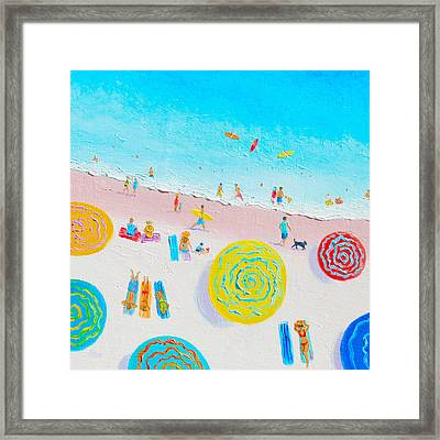 Beach Painting - Lazy Lingering Days Framed Print by Jan Matson