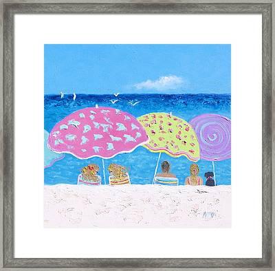 Beach Painting - Lazy Summer Days Framed Print by Jan Matson
