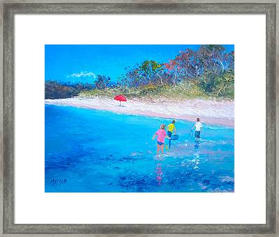 Beach Painting Perfect Days Framed Print by Jan Matson