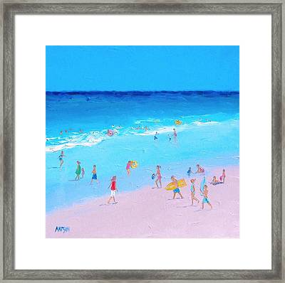 Beach Painting - Summer Holiday Framed Print by Jan Matson