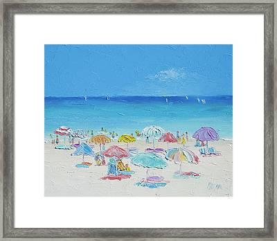 Beach Painting - Summer Paradise Framed Print by Jan Matson