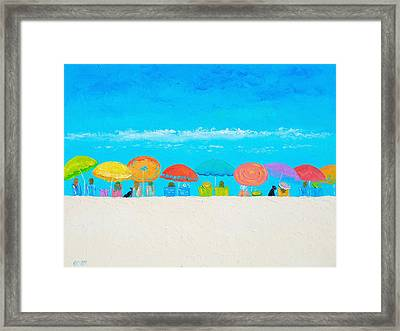 Beach Painting - Those Lazy Days Of Summer Framed Print by Jan Matson