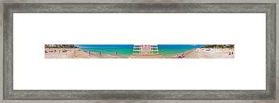 Beach Panorama Framed Print