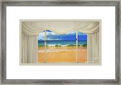 Beach Paradise From Your Home Or Office By Kaye Menner Framed Print