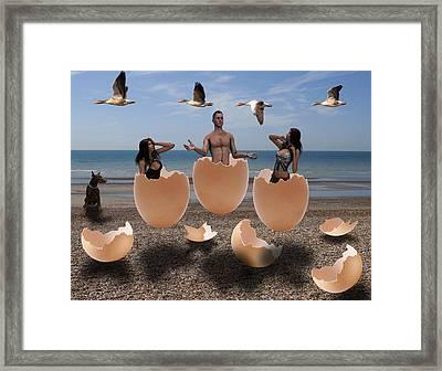 Beach Party Framed Print
