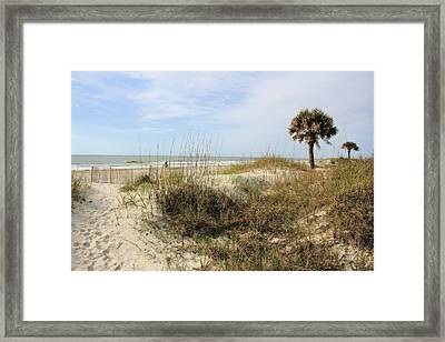 Beach Path Framed Print