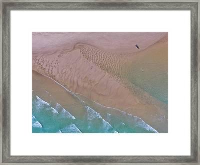 Beach Patterns At North Point On Moreton Island Framed Print