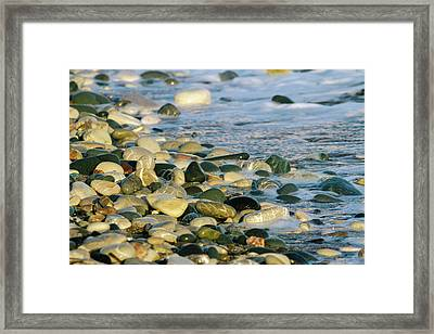 Beach Pebbles Framed Print by Stelios Kleanthous
