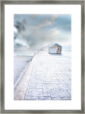 Beach Pier Framed Print