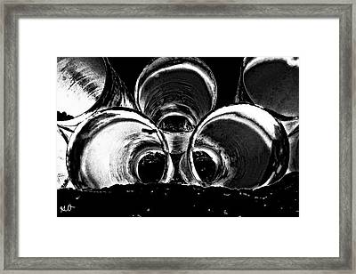 Beach Pipes Framed Print
