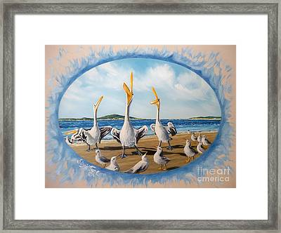 Privileged. Pelican  Procedure Prevailed   Framed Print