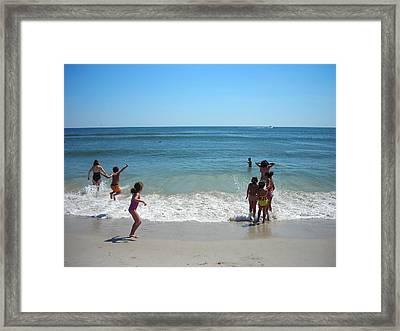 Beach Play Framed Print by Ruth Sharton