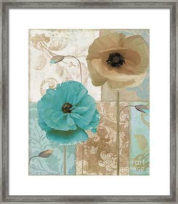 Beach Poppies Framed Print