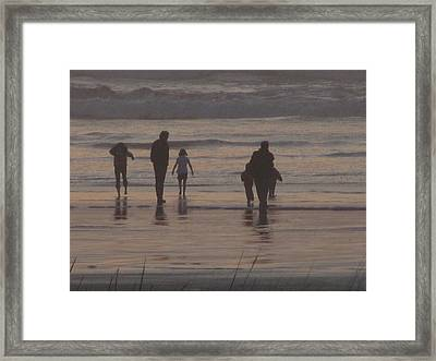 Beach Quality Time Framed Print by Gregory Smith