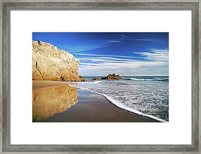 Beach Reflections Framed Print by Aron Kearney