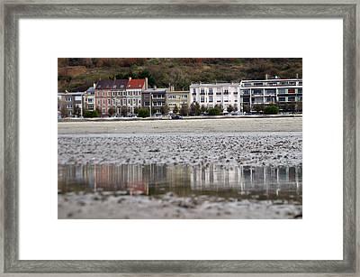 Beach Reflections Framed Print by Jez C Self