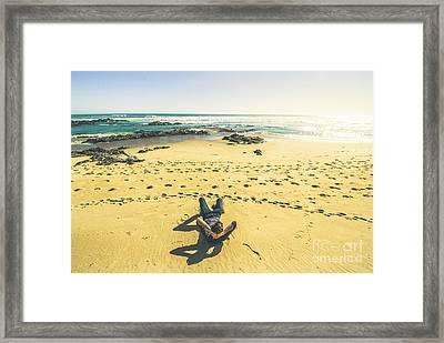 Beach Relaxation In Tasmania Framed Print