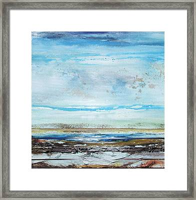 Beach Rhythms And  Textures Northumberland Framed Print by Mike   Bell