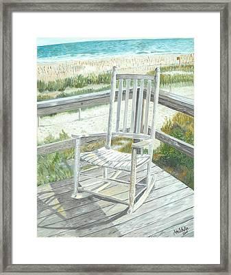 Beach Rocker Framed Print by John Schuller