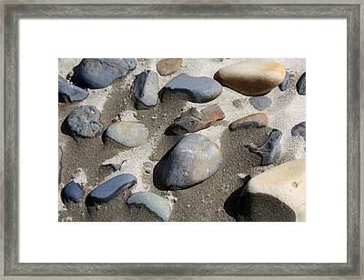 Framed Print featuring the photograph Beach Rocks 3 by Joanne Coyle