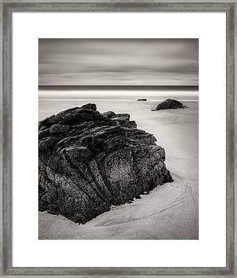 Beach Rocks Framed Print