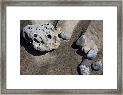 Framed Print featuring the photograph Beach Rocks by Joanne Coyle