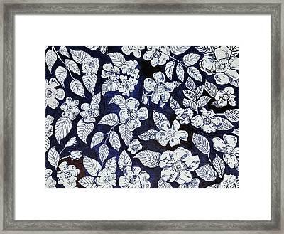 Beach Rose Pattern Framed Print