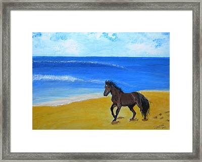 Beach Run Framed Print