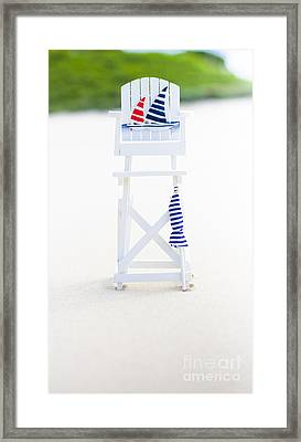 Beach Safety Framed Print