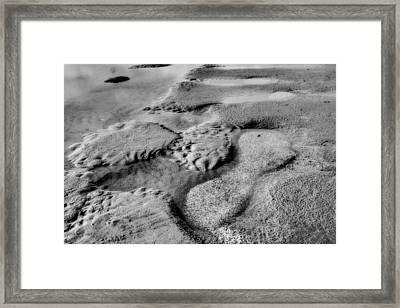 Beach Sand Tide Graffiti  Framed Print by Randy Steele