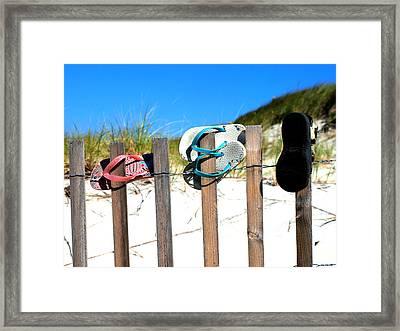 Beach Sandels  Framed Print