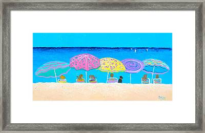 Beach Sands Perfect Tans Framed Print