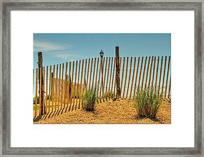 Beach Scene Asbury Park New Jersey Framed Print by Geraldine Scull