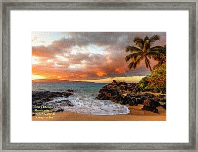 Beach Scene At Lexington Bay L A Framed Print