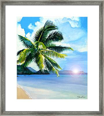 Beach Scene Framed Print by Curtiss Shaffer