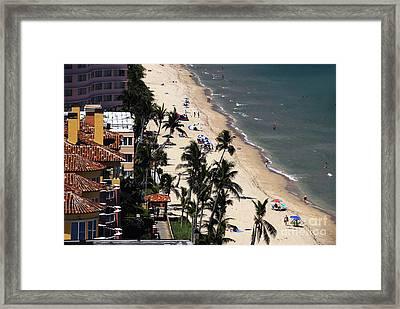 Beach Scene Framed Print by David Lee Thompson